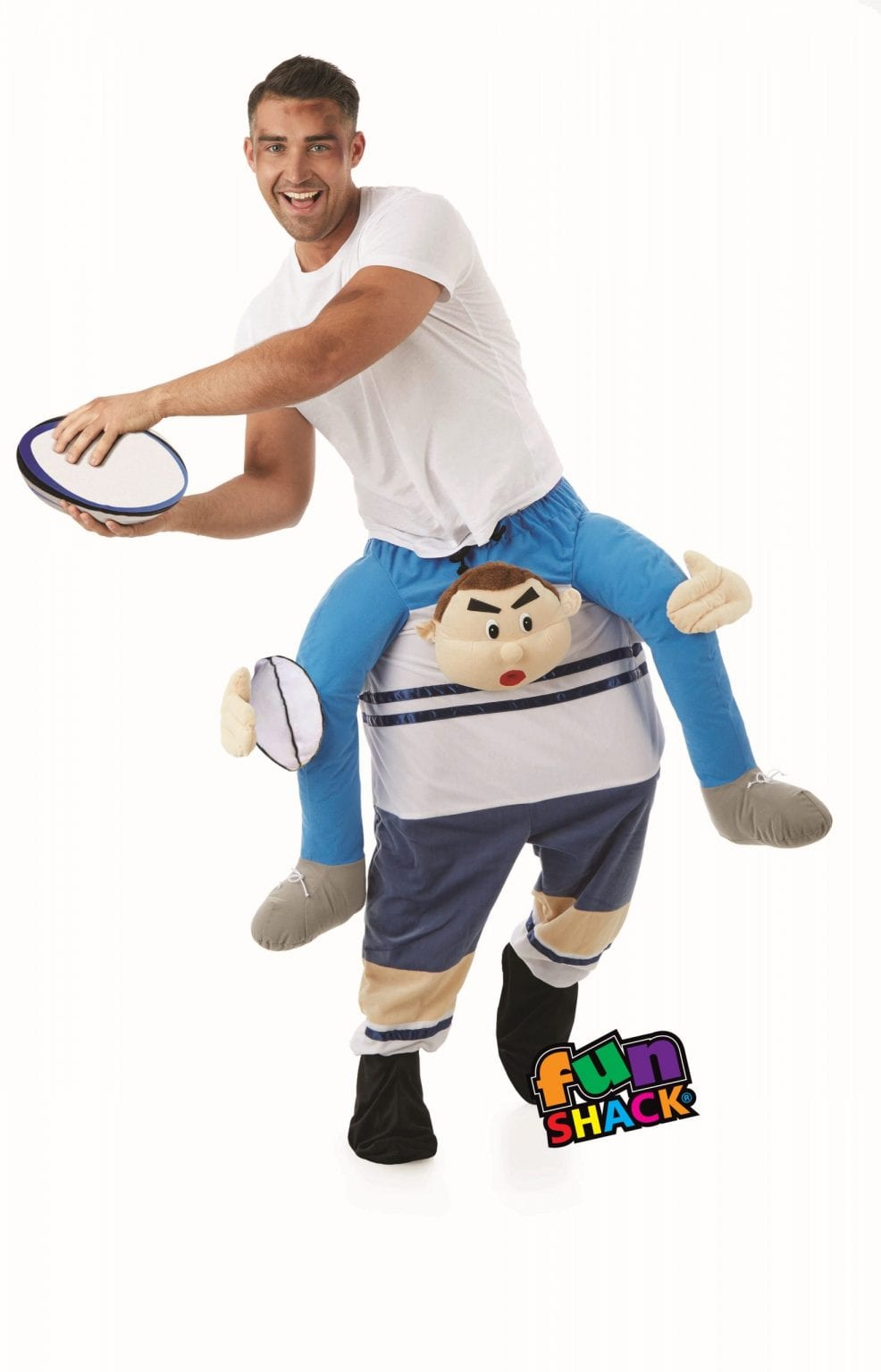 Rugby Player Lift Me Up Novelty Unisex Fancy Dress Costume