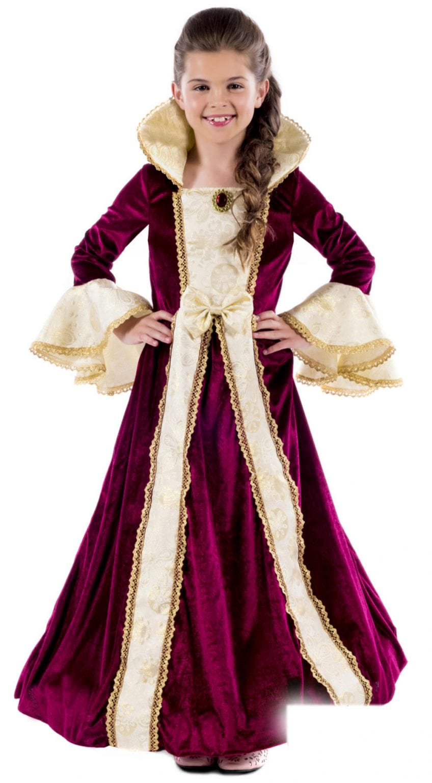 Royal Ball Gown Victoria Children's Fancy Dress Costume