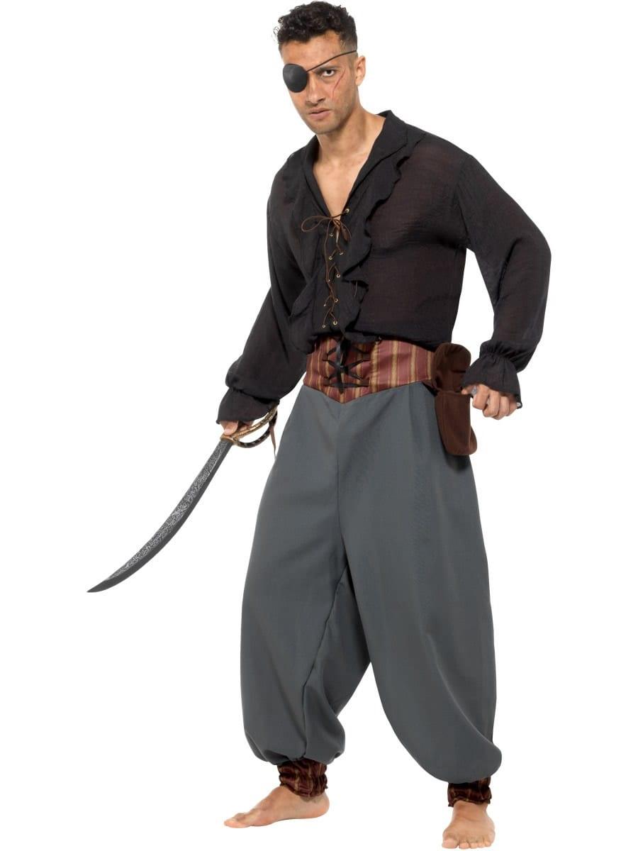 Pirate Blouson Pants Men's Fancy Dress Costume