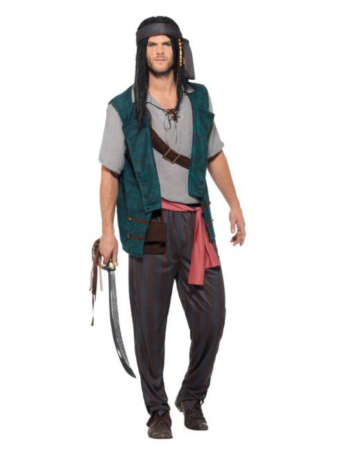 Pirate Deckhand Men's Fancy Dress Costume