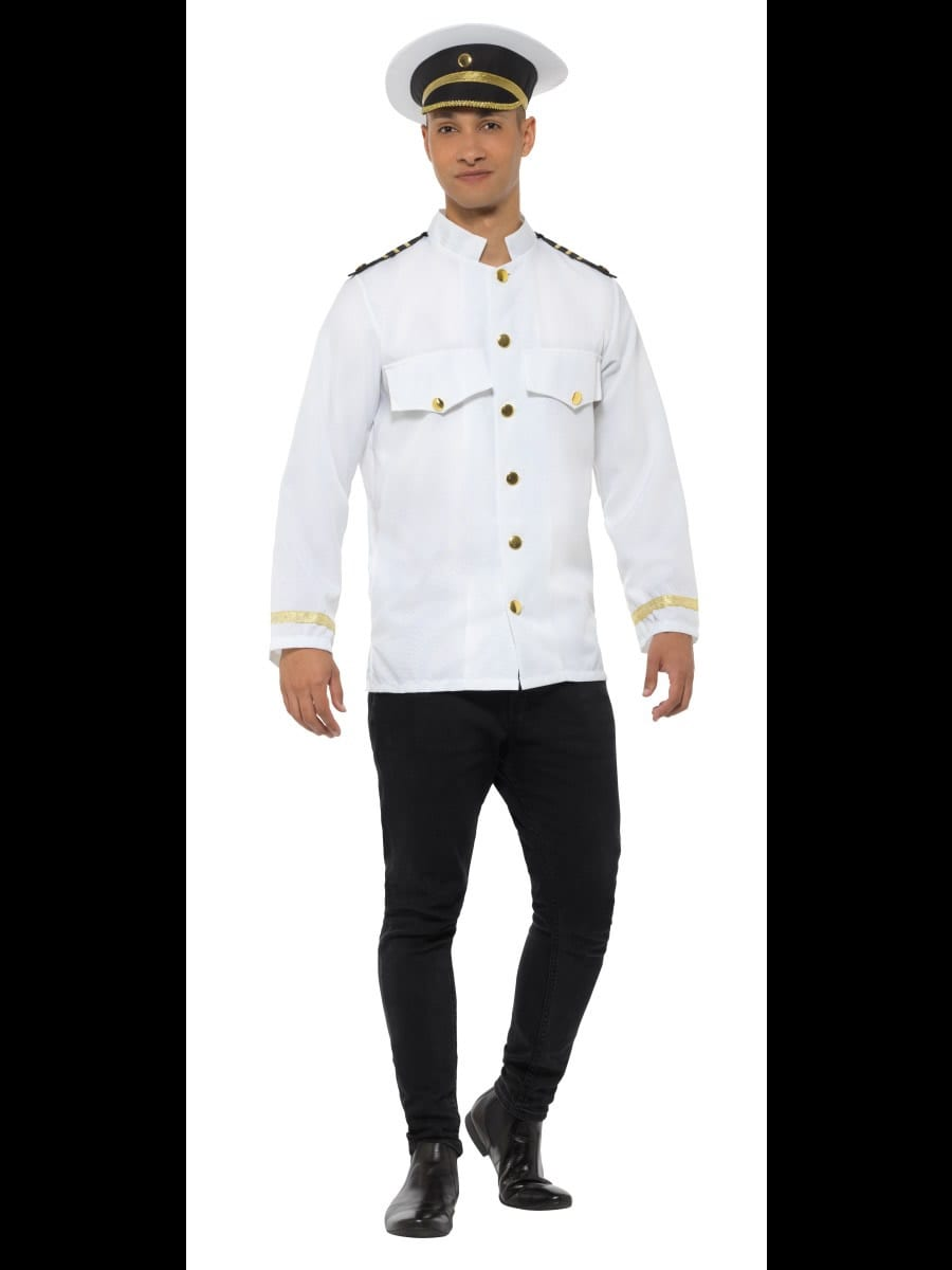 Captain Jacket Men's Fancy Dress Costume