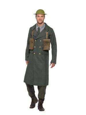 WW2 British Office Men's Fancy Dress Costume