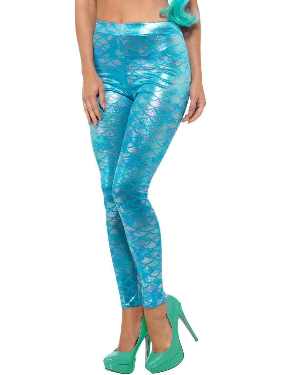 Mermaid Leggings Ladies Fancy Dress Costume