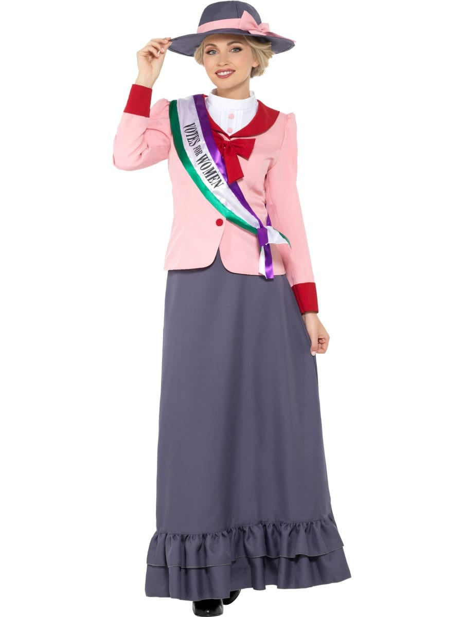 Deluxe Victorian Suffragette Ladies Fancy Dress Costume