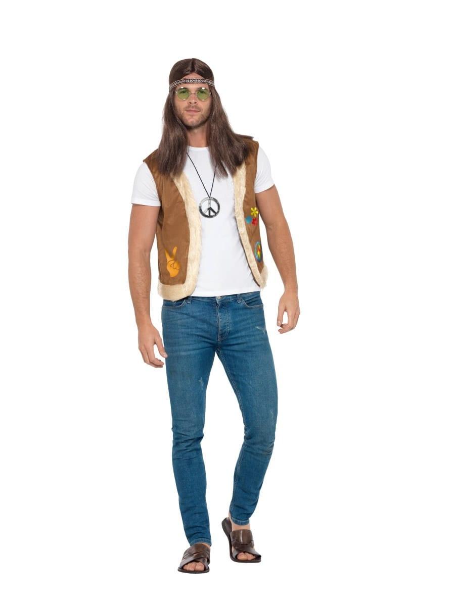 Hippie Waistcoat Unisex Fancy Dress Costume