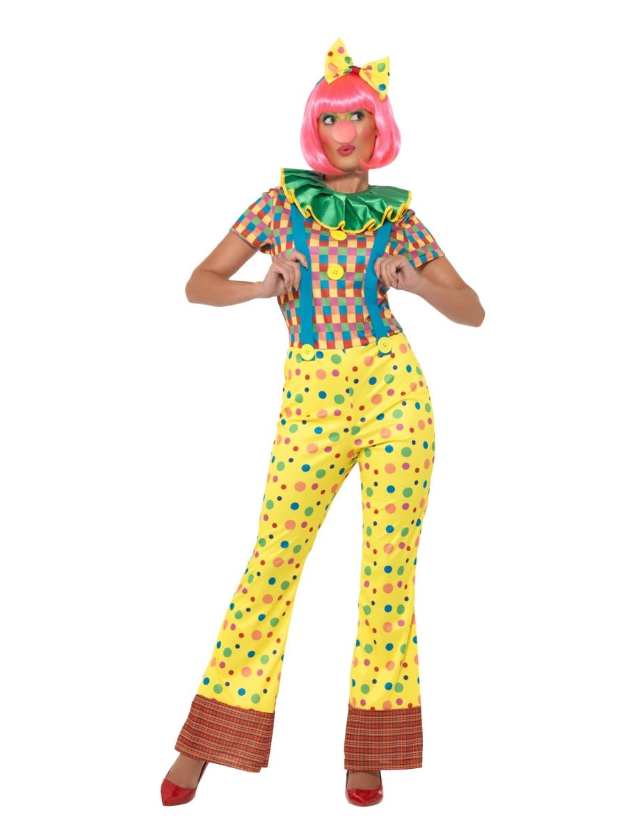 Giggles The Clown Lady Ladies Fancy Dress Costume