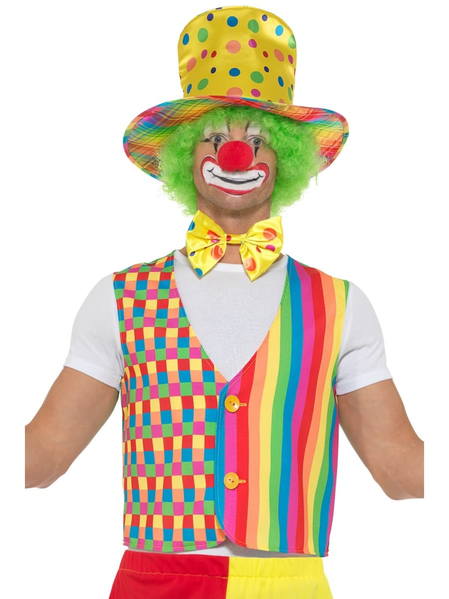 Big Top Clown Kit Men's Fancy Dress Costume