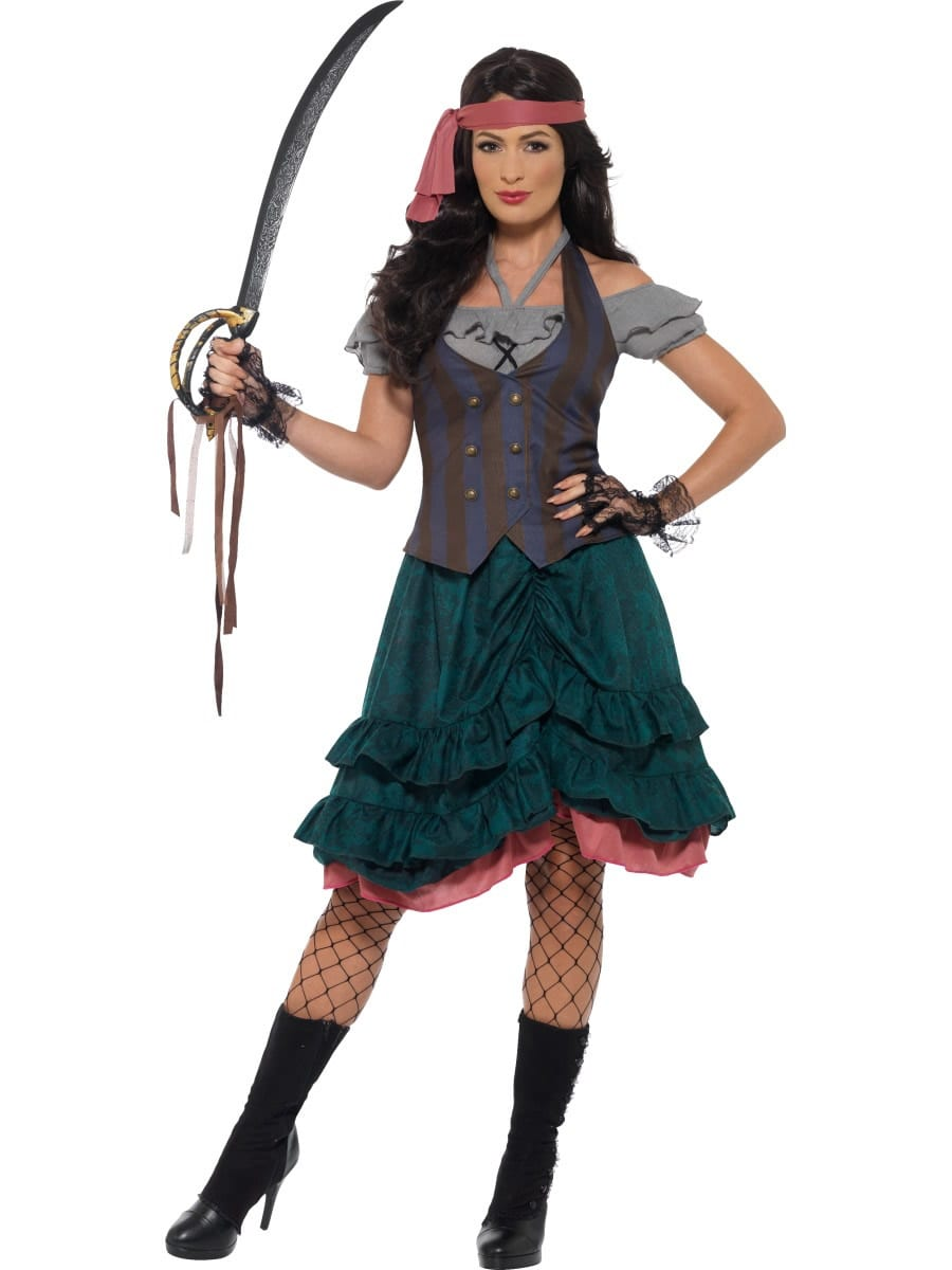 Deluxe Pirate Wench Ladies Fancy Dress Costume