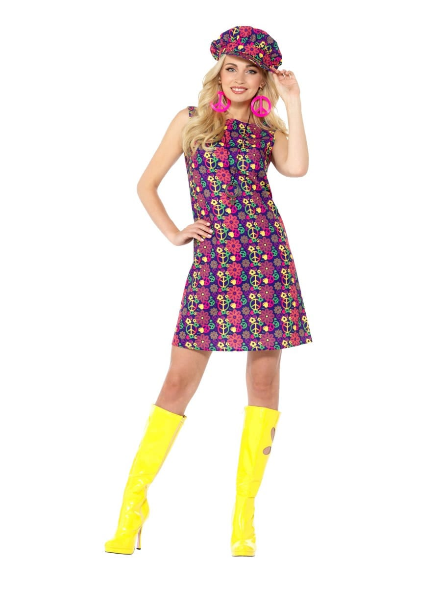 1960s Psychedelic CND Ladies Fancy Dress Costume