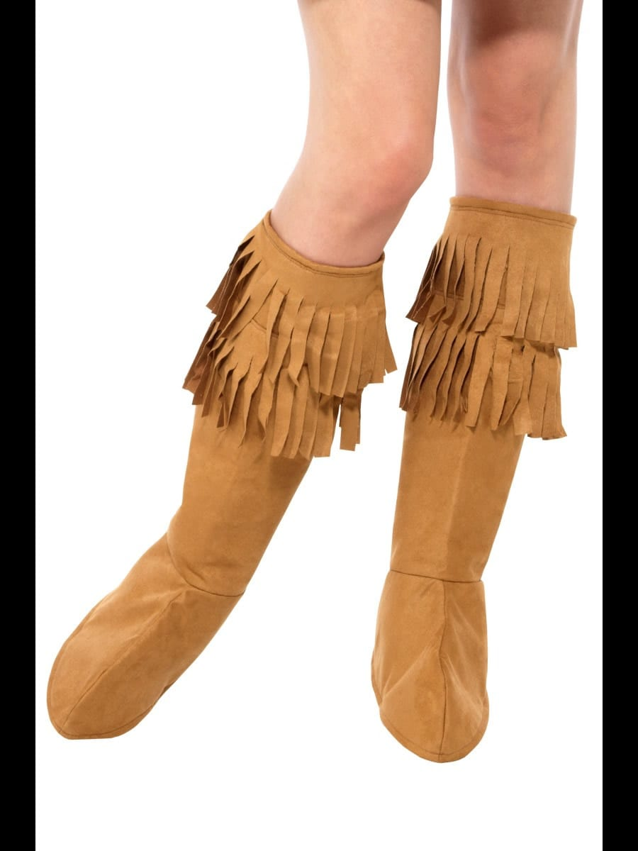 Hippie Fringe Boot Covers Brown