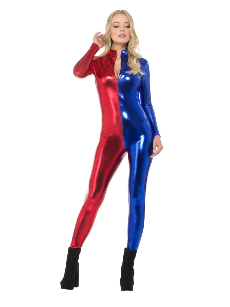 Fever Miss Harlequin Whiplash Ladies Fancy Dress Costume