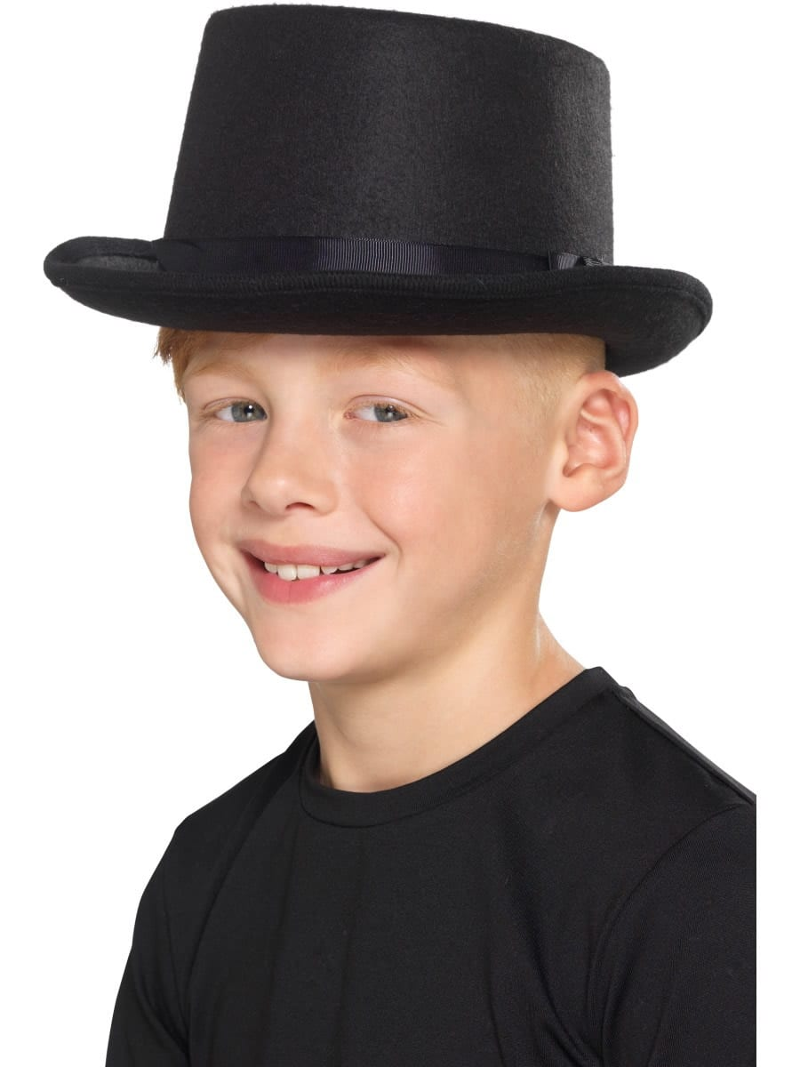 Kids Black Top Hat