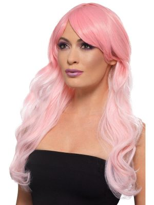 Fashion Ombre Wig Grey/Pastel Pink