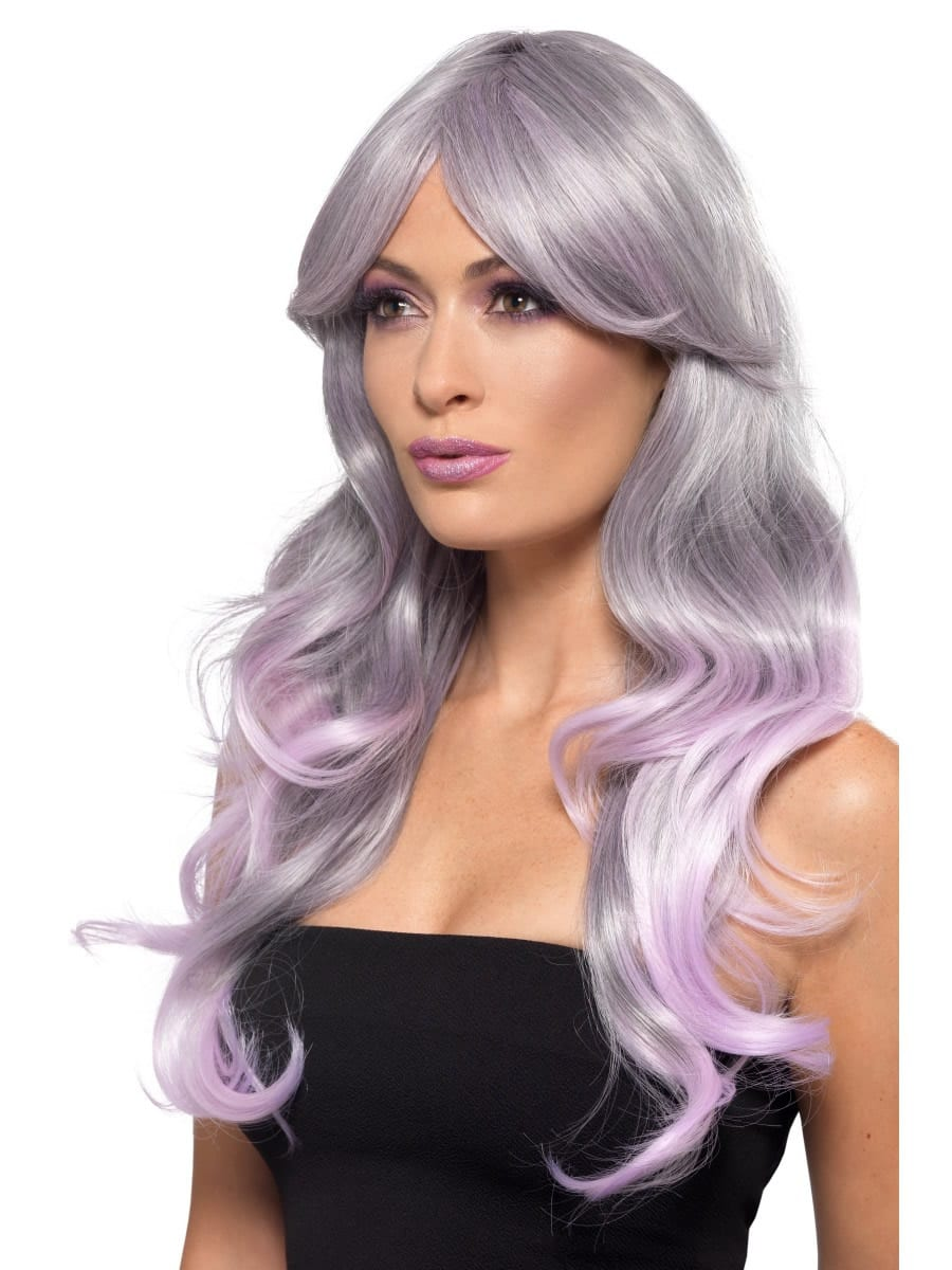 Fashion Ombre Wig Blue/Pastel Pink