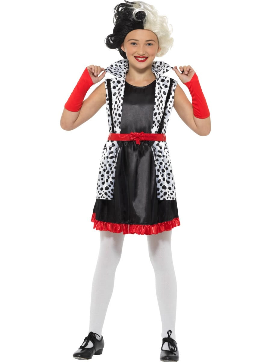 Evil Little Madame (Cruella) Children's Fancy Dress Costume