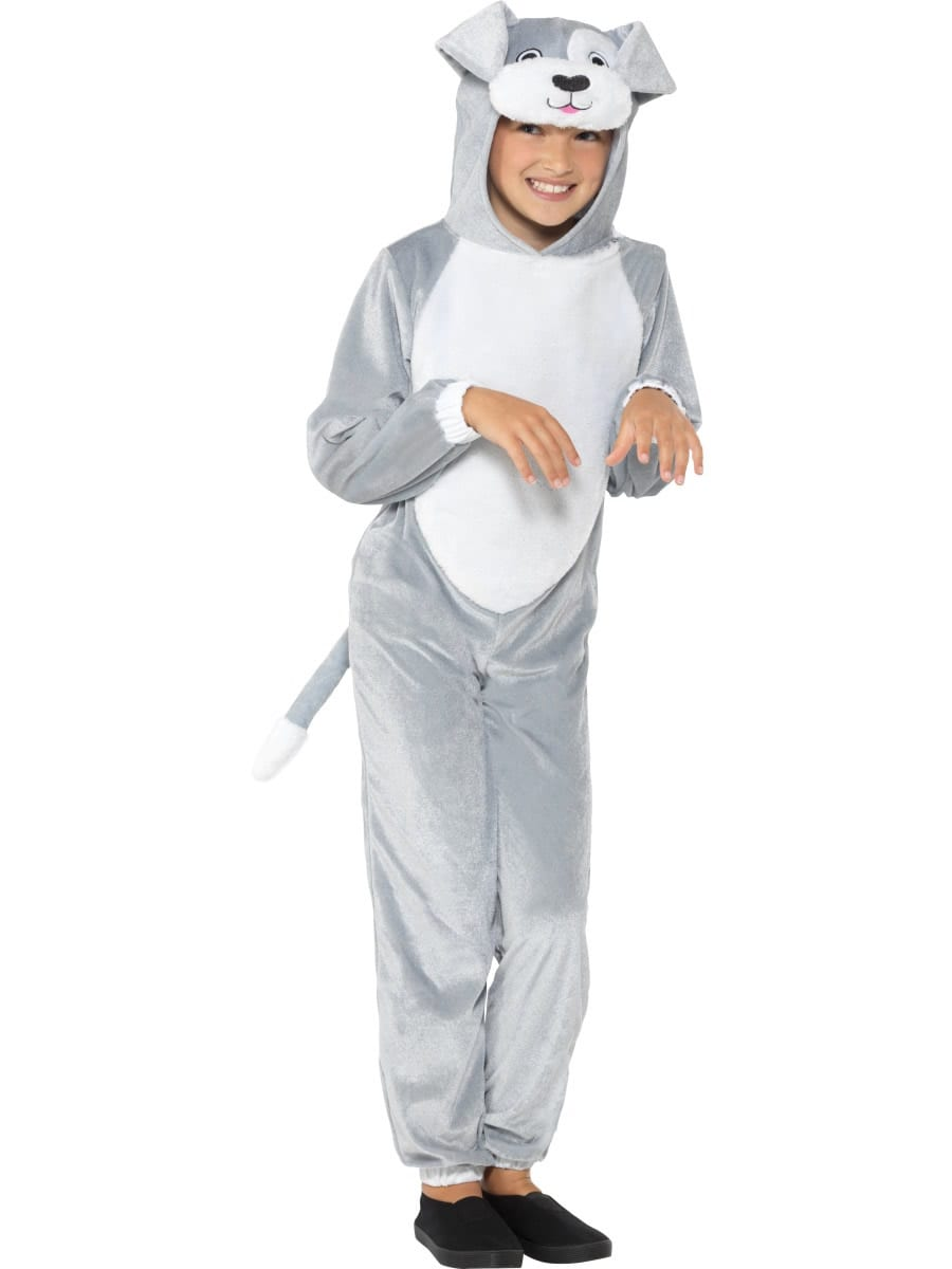 Grey Dog Children's Unisex Fancy Dress Costume
