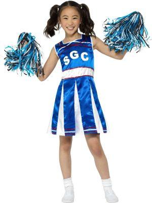 Cheerleader Blue Children's Fancy Dress Costume