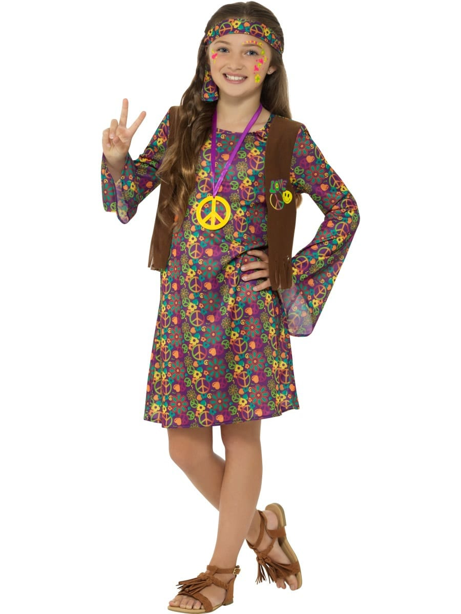 Hippie Girl Children's Fancy Dress Costume