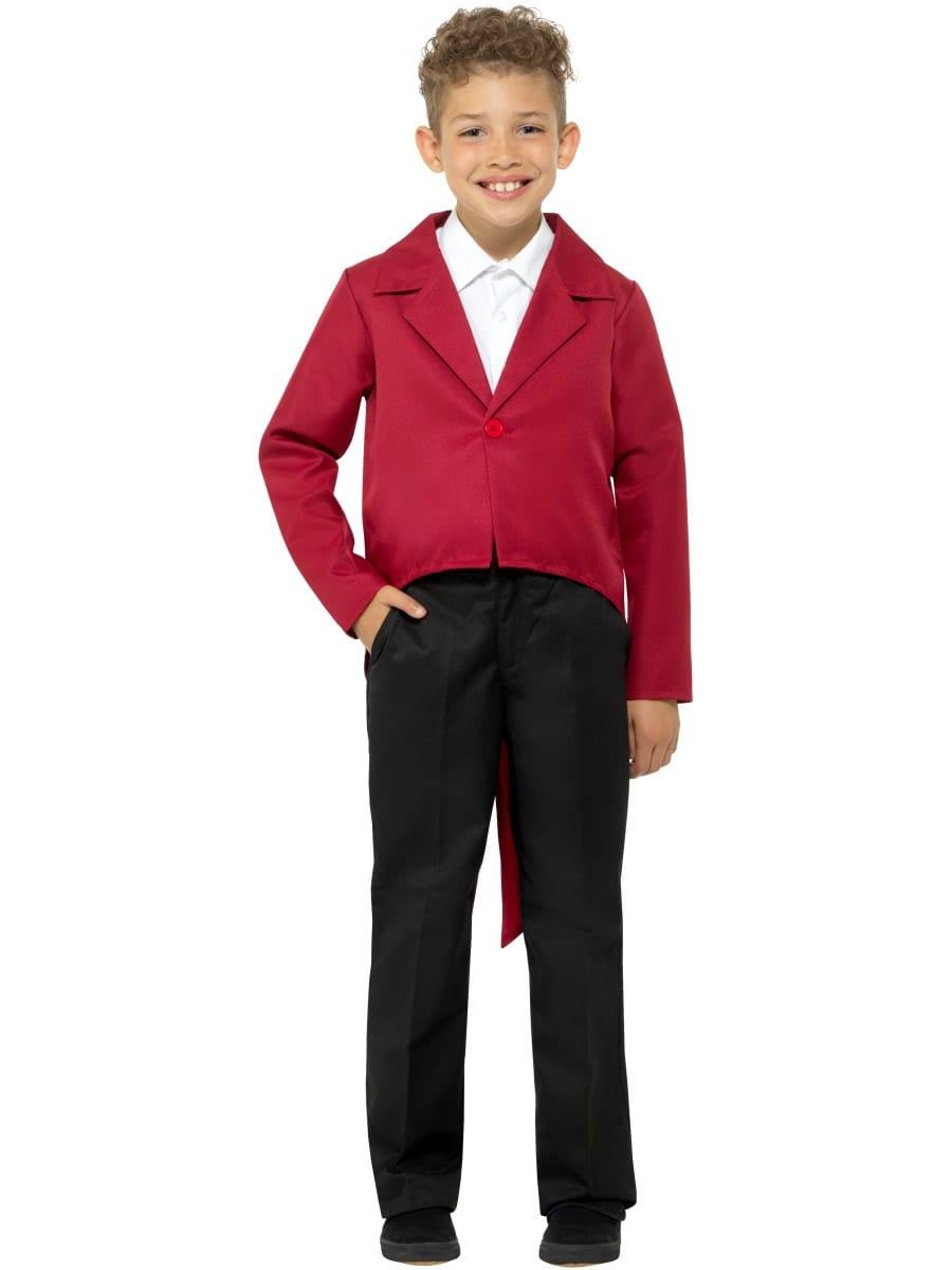Red Tailcoat Children's Unisex Fancy Dress Costume