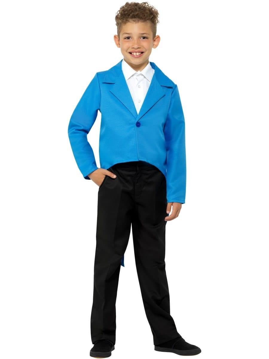 Blue Tailcoat Children's Unisex Fancy Dress Costume