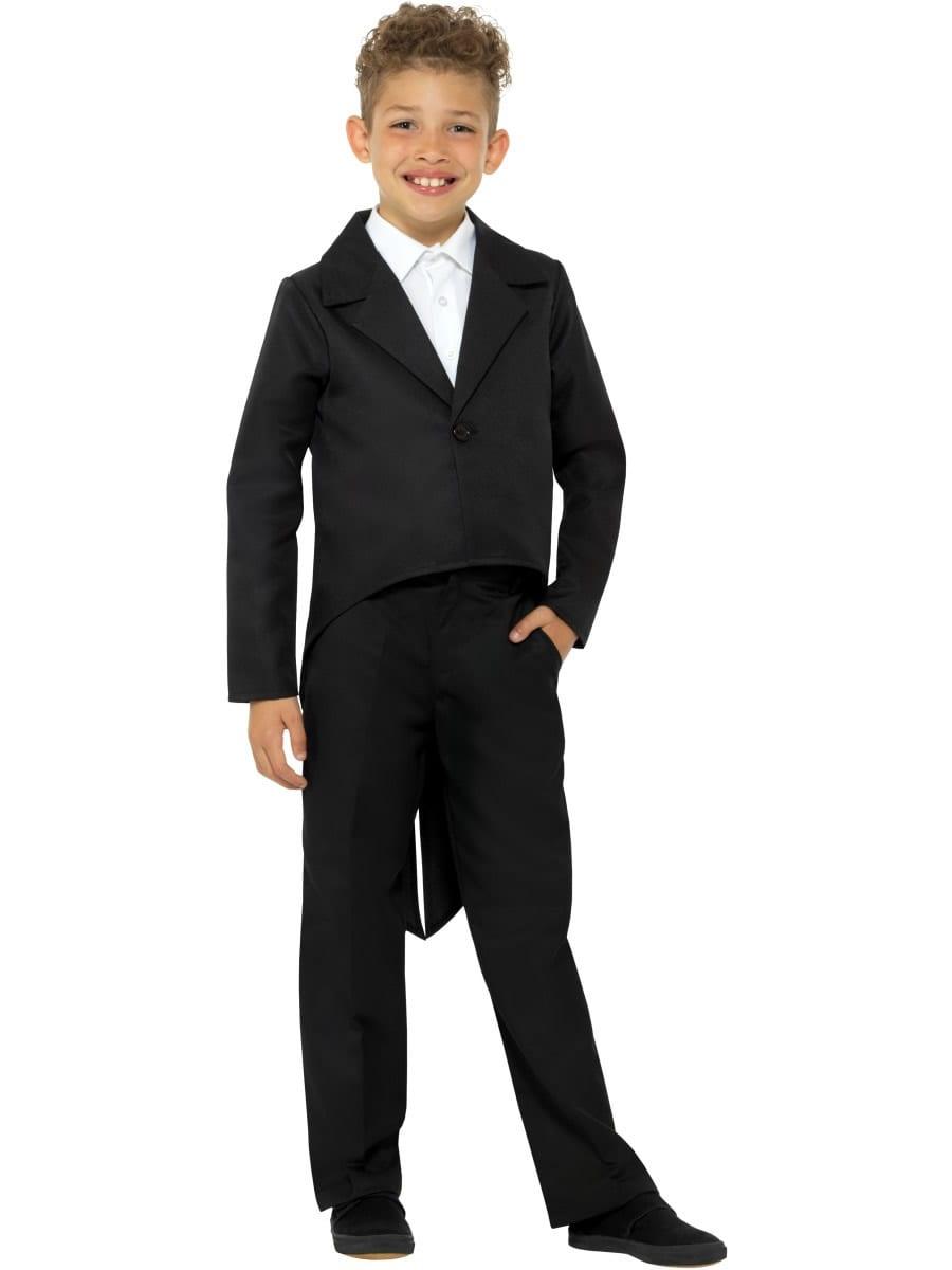 Black Tailcoat Children's Unisex Fancy Dress Costume