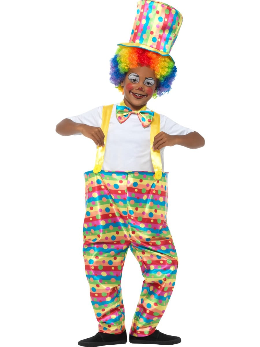 Boys Clown Children's Fancy Dress Costume