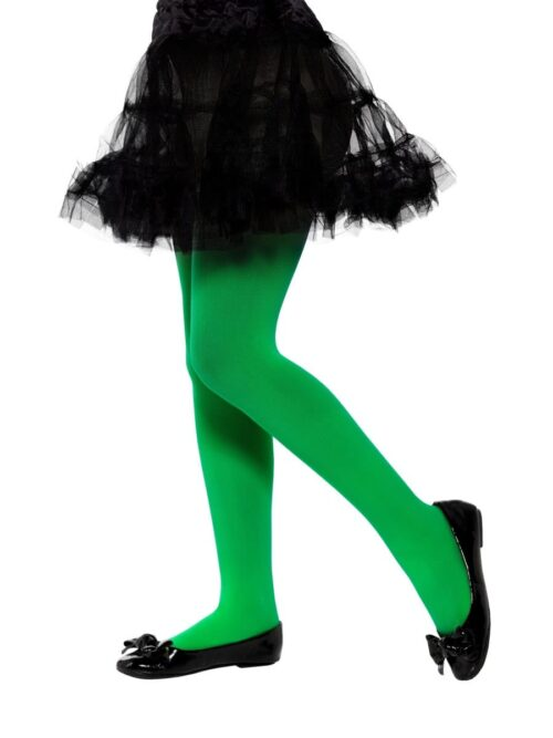Opaque Tights Green Age 6-12 Years
