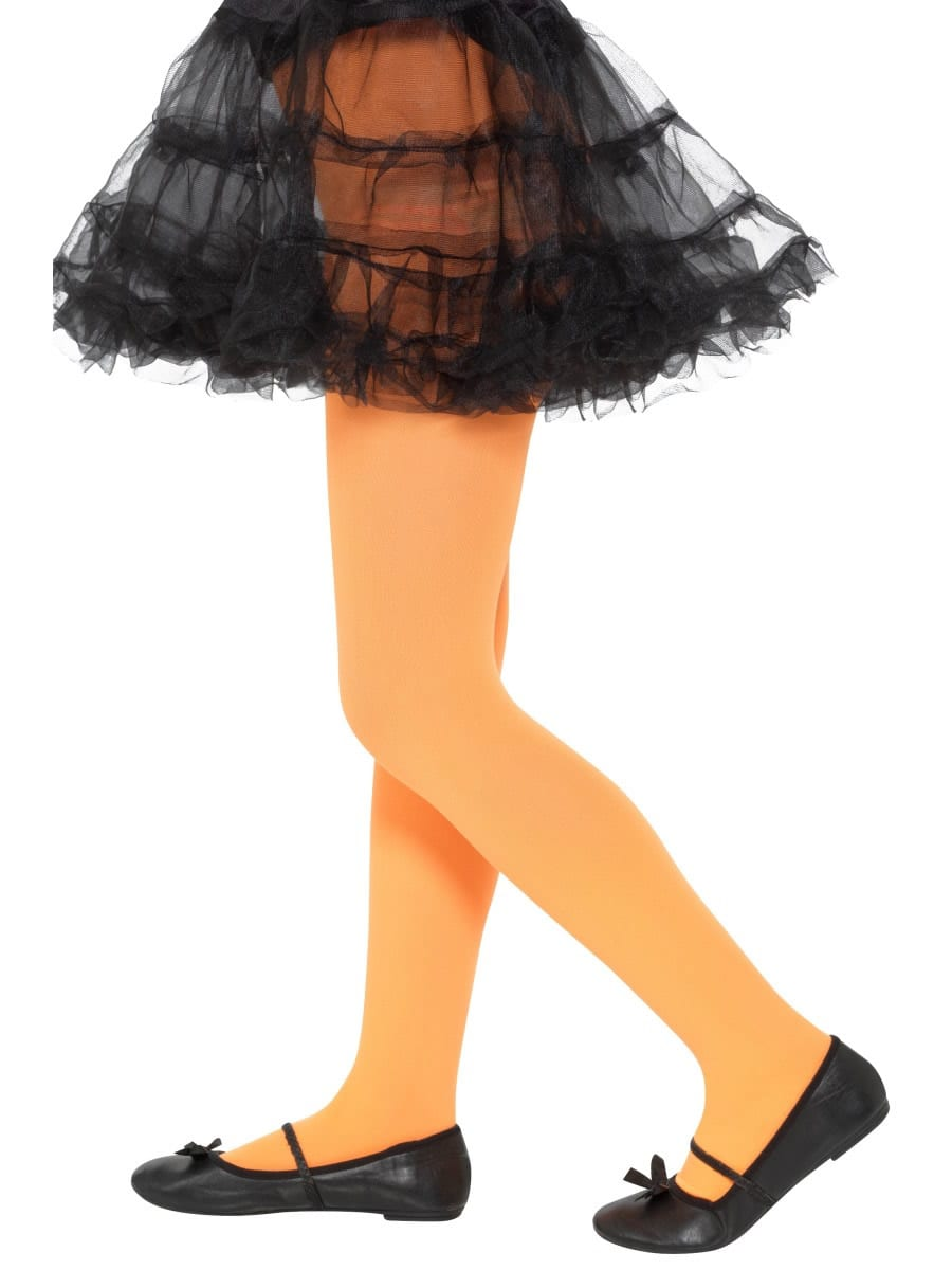 Opaque Tights Orange Age 6-12 Years