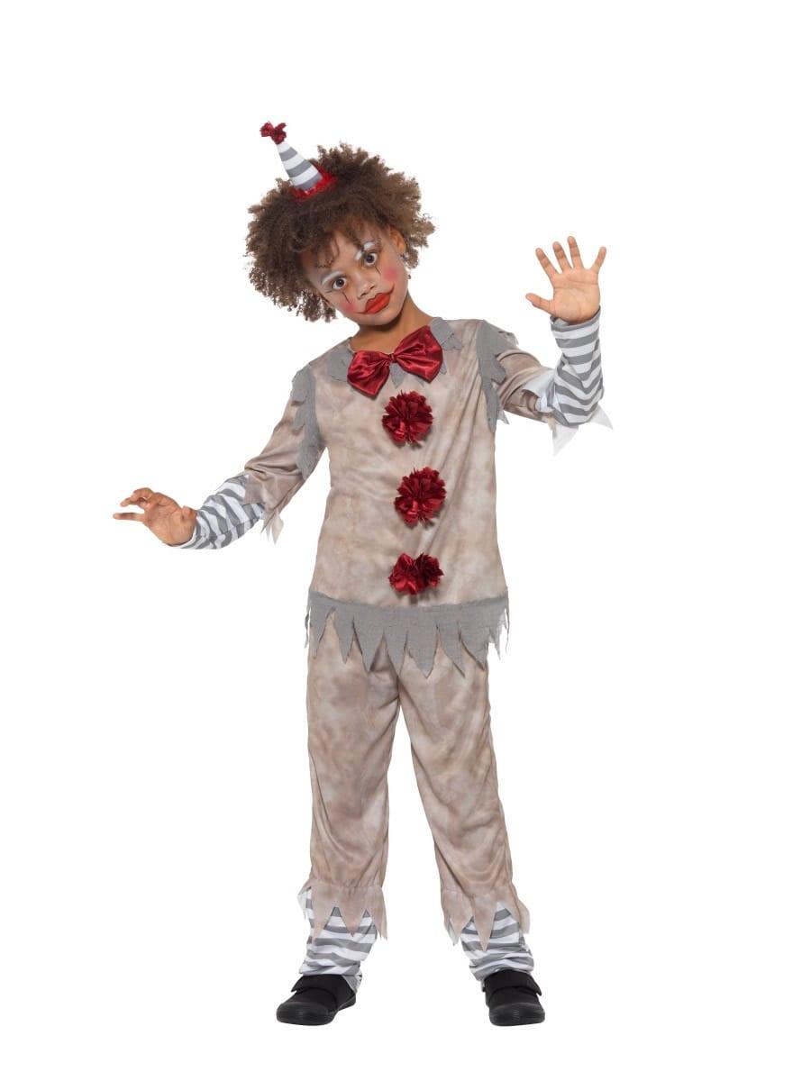 Vintage Clown Boy Children's Halloween Fancy Dress Costume