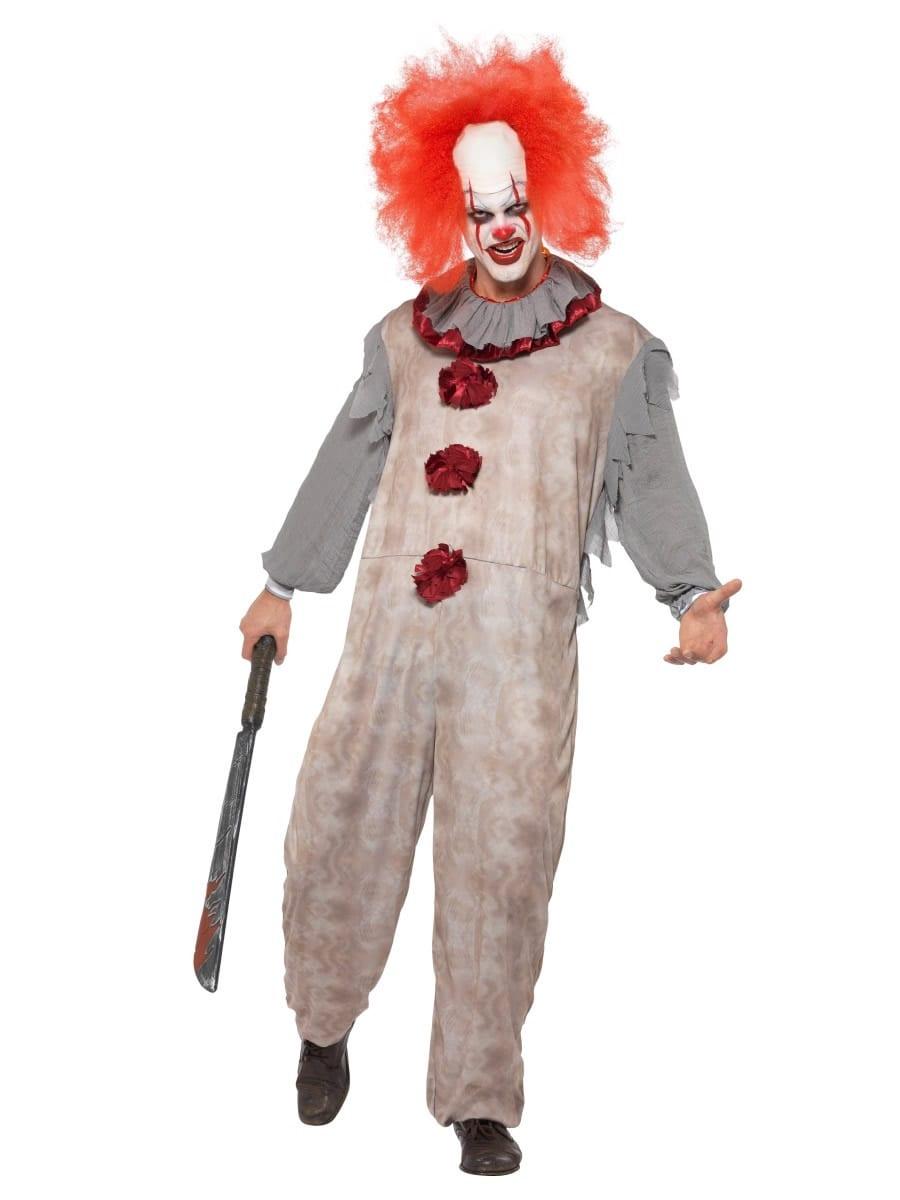 Vintage Clown Halloween Men's Fancy Dress Costume