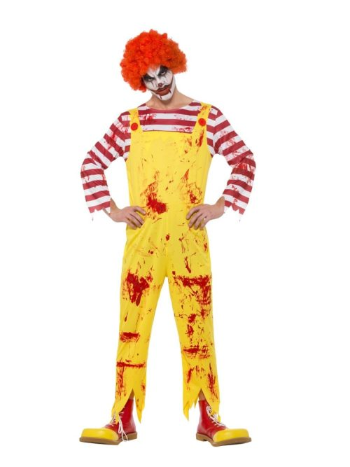 Kreepy Killer Clown Halloween Men's Fancy Dress Costume