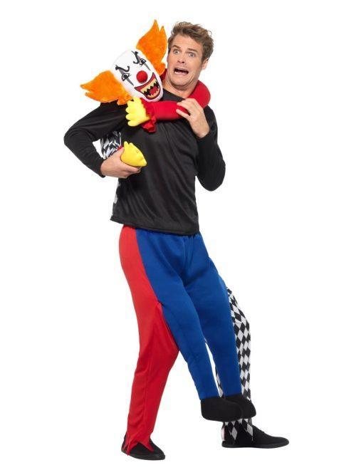 Piggyback Kidnap Clown Halloween Men's Fancy Dress Costume