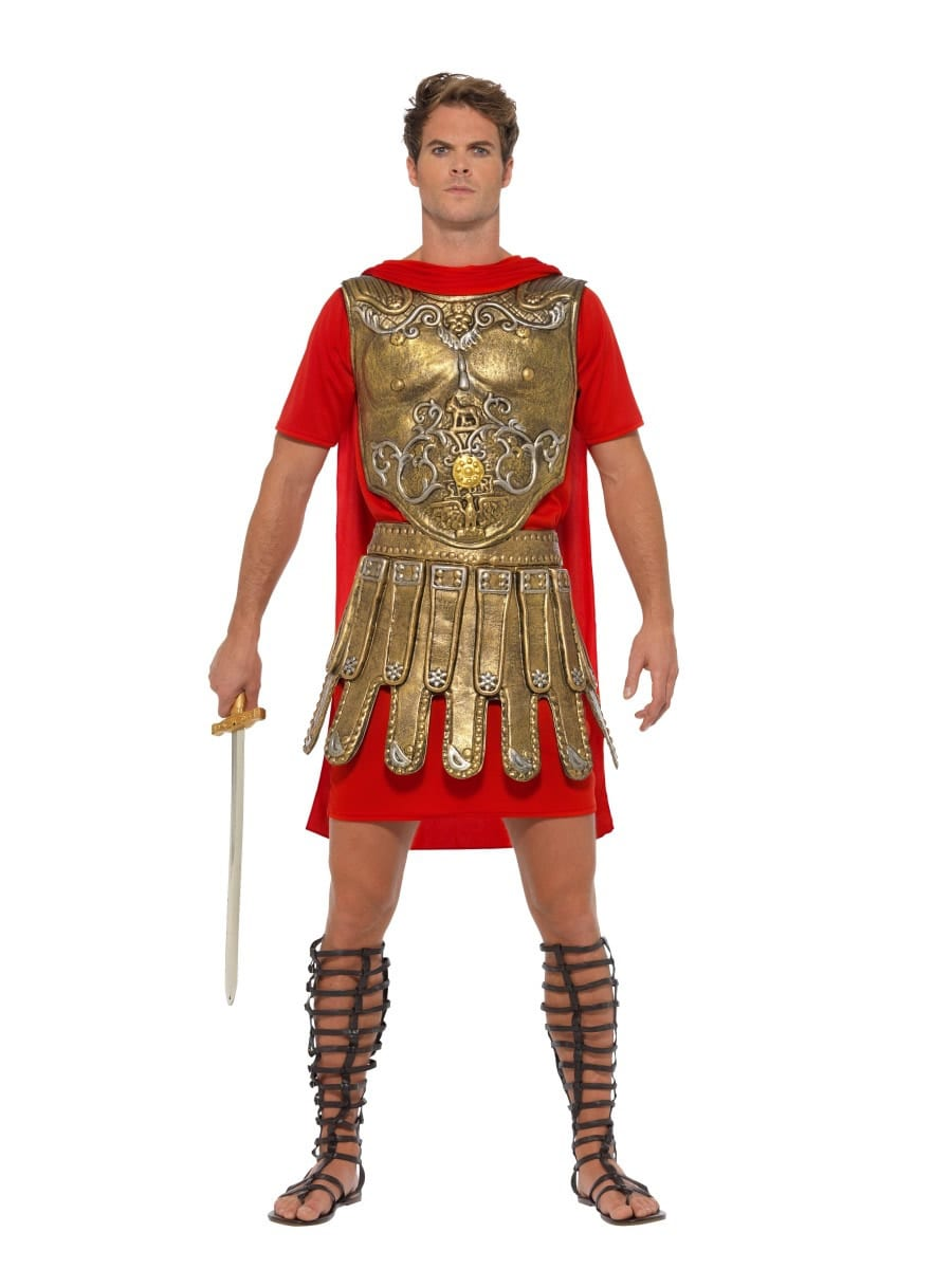 Economy Roman Gladiator Men's Fancy Dress Costume