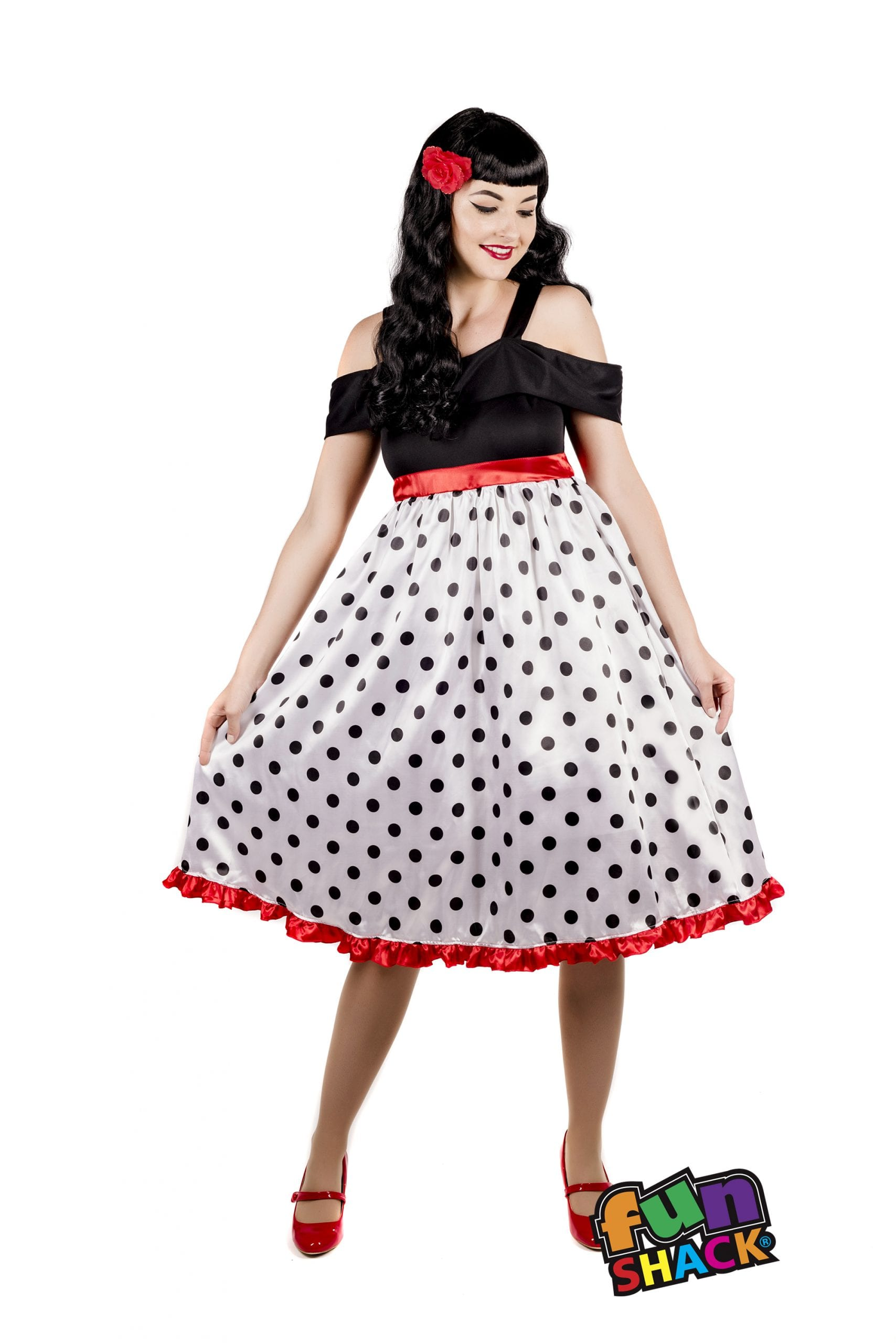 Rockabilly Ladies Fancy Dress Costume