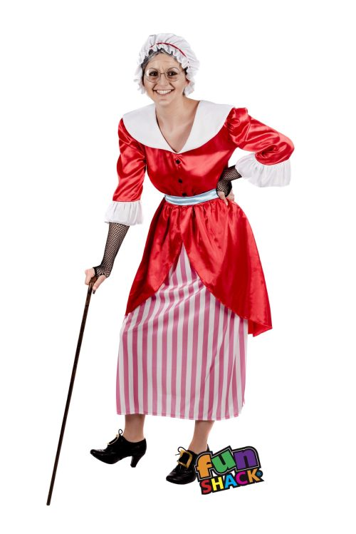 Old Mother Hubbard Ladies Fancy Dress Costume