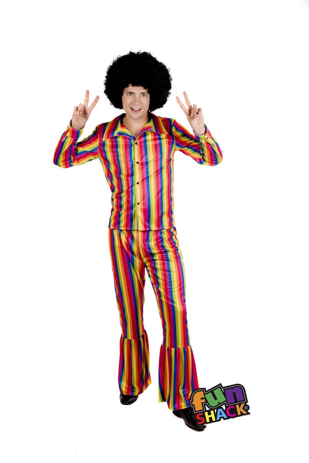 Rainbow Suit Men's Fancy Dress Costume