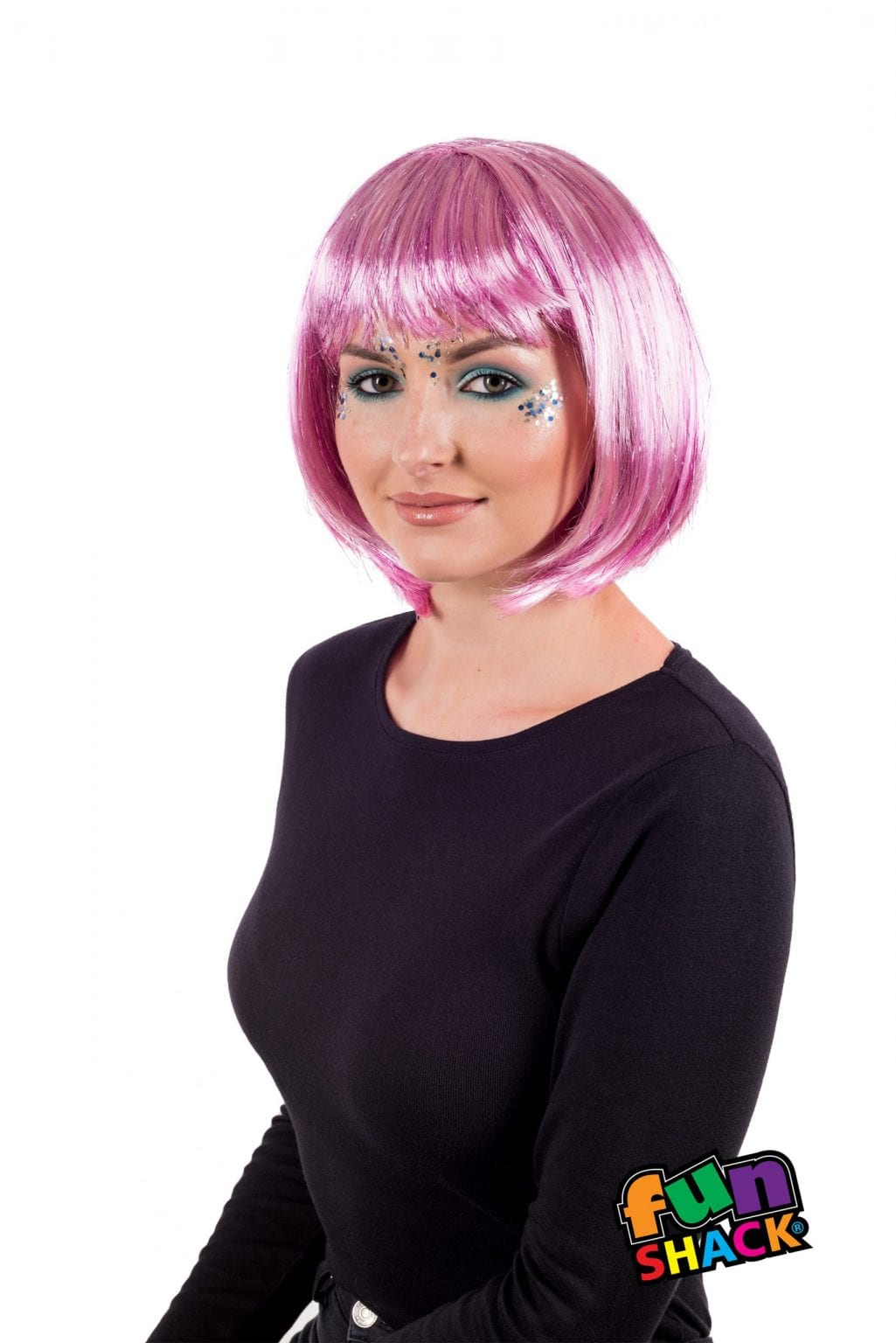 Deluxe Pink Glitter Wig
