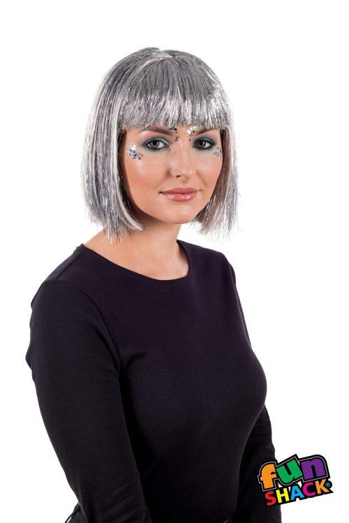 Deluxe Silver Glitter Wig