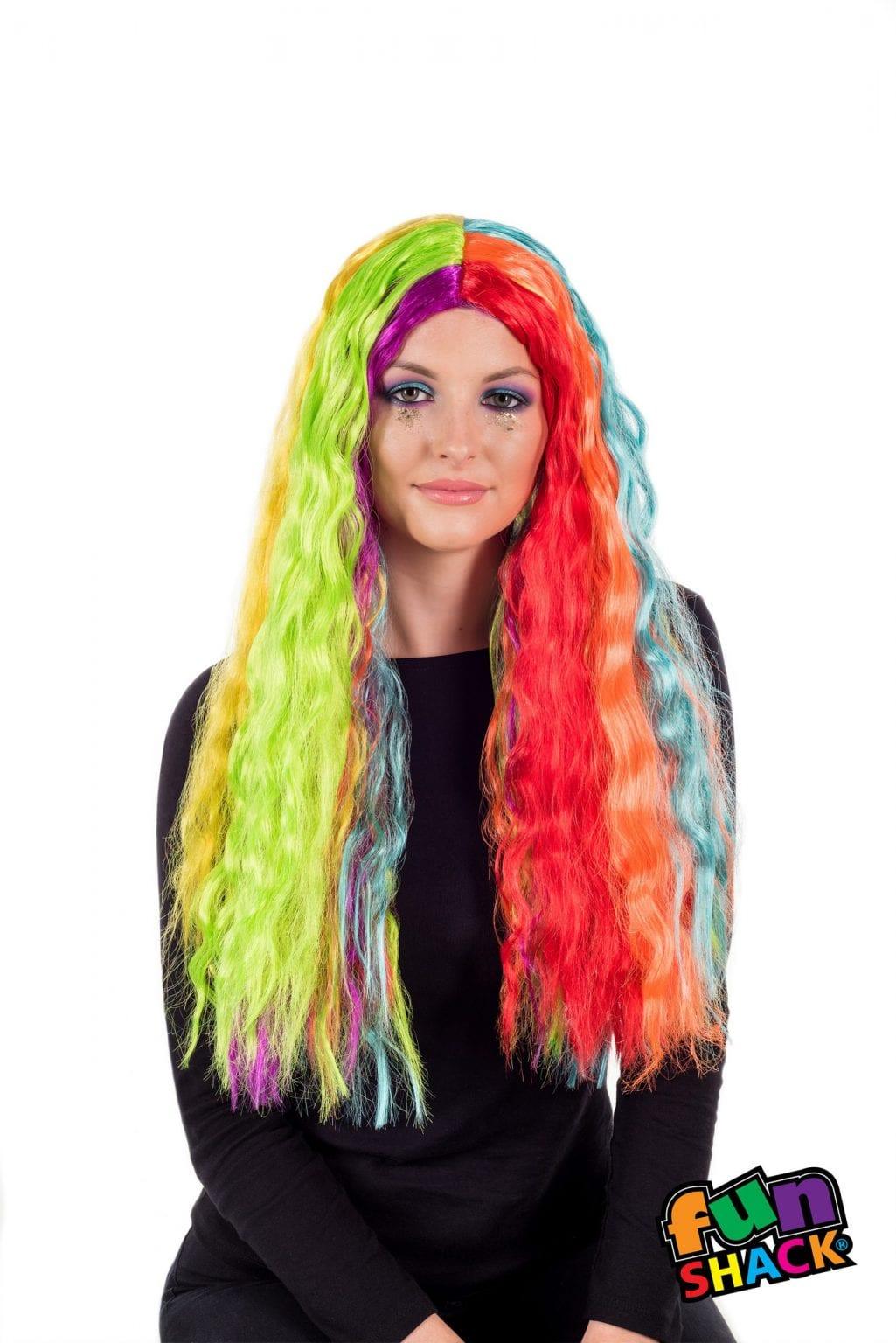 Deluxe Rainbow Wavy Long Wig