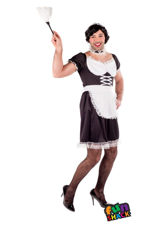 Sexy French Maid Men's Fancy Dress Costume