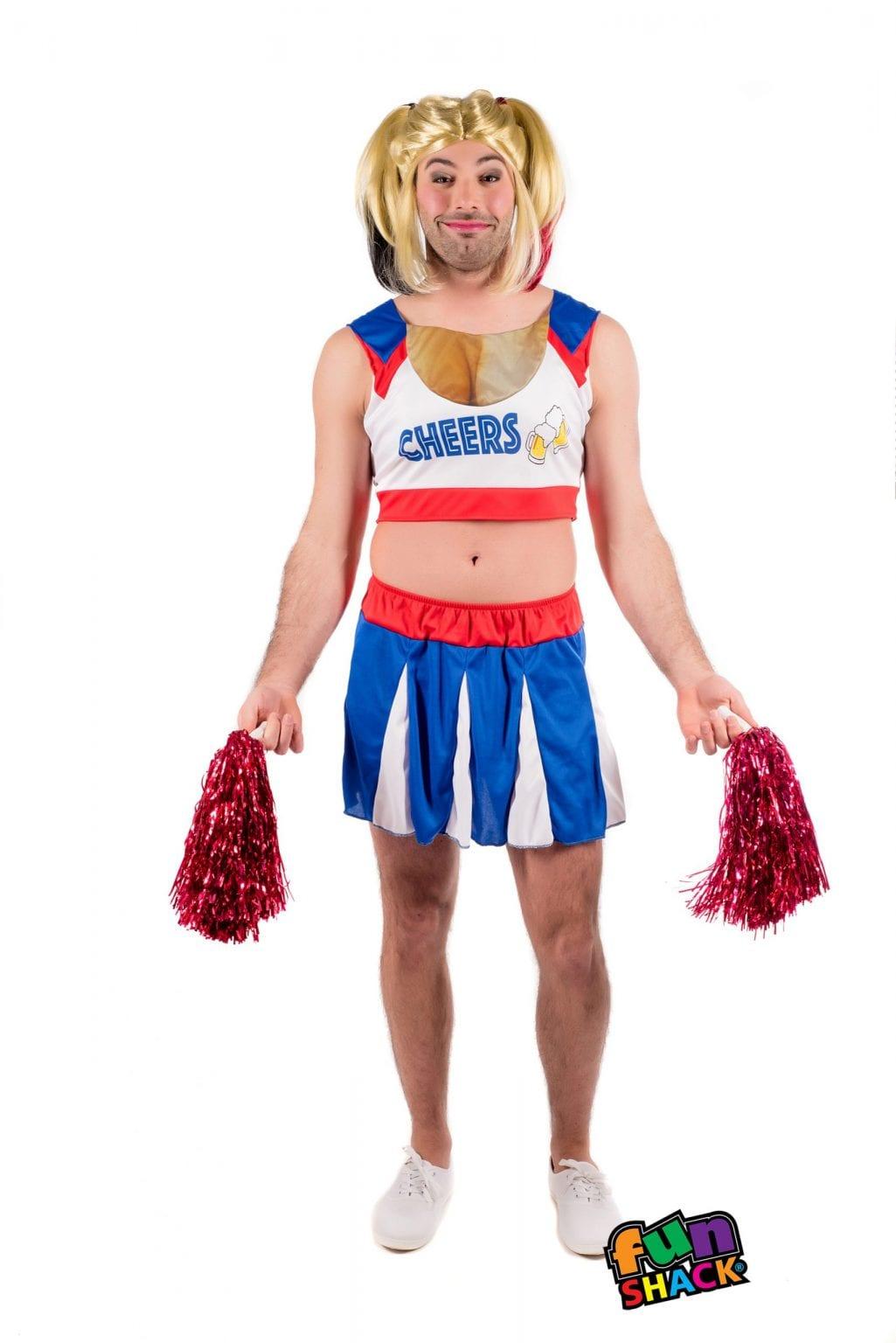 Cheers Leader Men's Fancy Dress Costume
