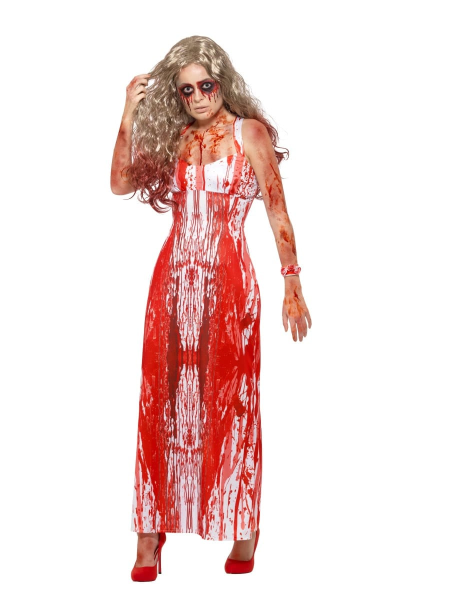 Bloody Prom Queen Ladies Fancy Dress Costume