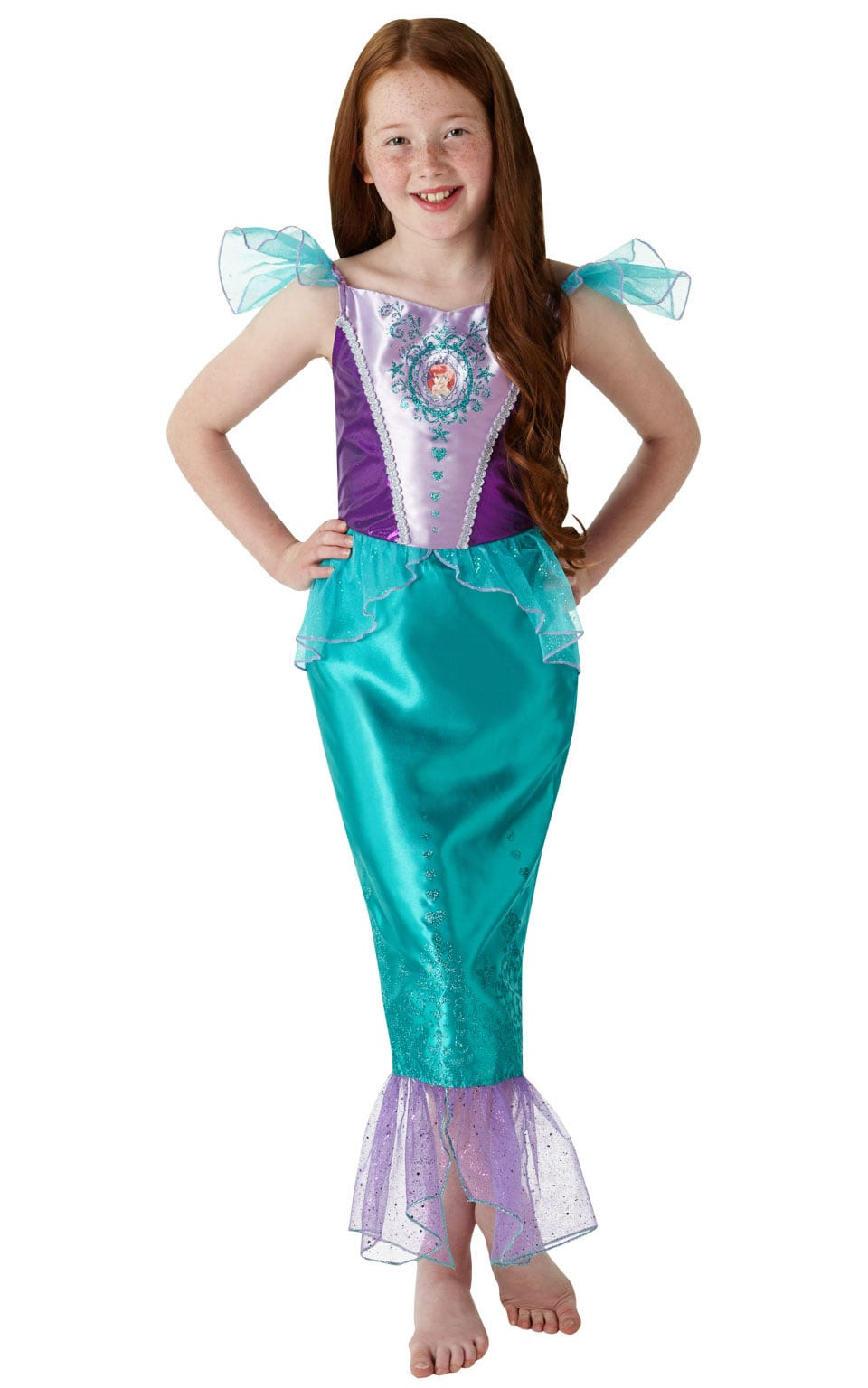 Disney Princess Gem Princess Ariel Tween Children's Fancy Dress Costume