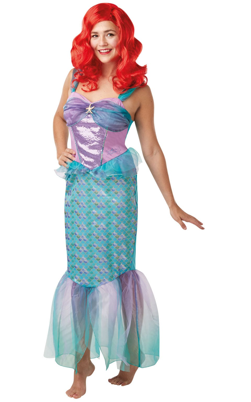 Disney Princess Ariel Ladies Fancy Dress Costume