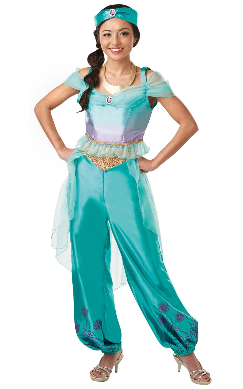 Disney Princess Jasmine Ladies Fancy Dress Costume