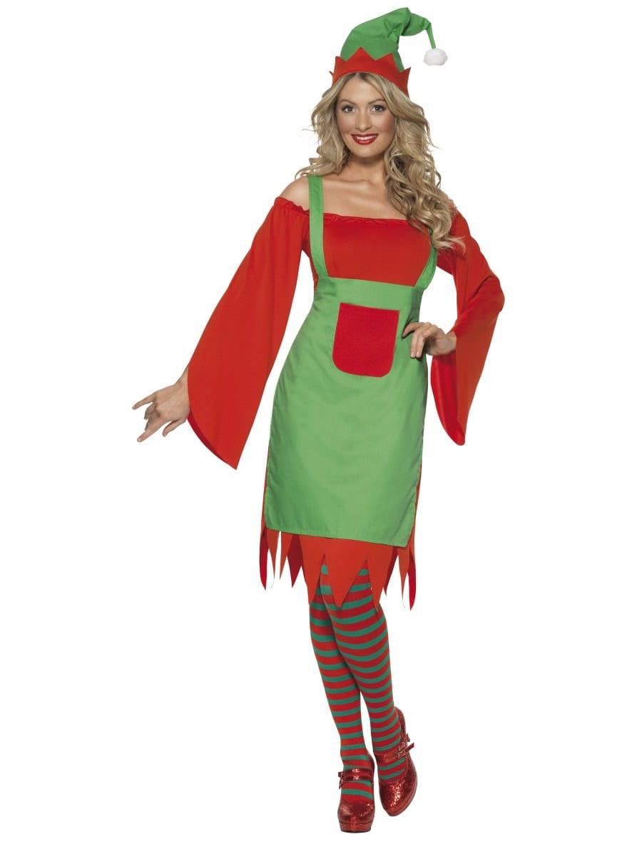 Cute Elf Ladies Christmas Fancy Dress Costume