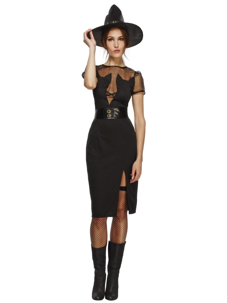 Fever Enchanting Cat Witch Ladies Halloween Fancy Dress Costume