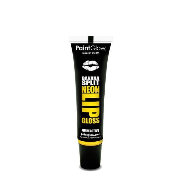PaintGlow UV Reactive Neon Lip Gloss 15ml Banana Split