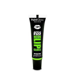 PaintGlow UV Reactive Neon Lip Gloss 15ml Apple Fizz