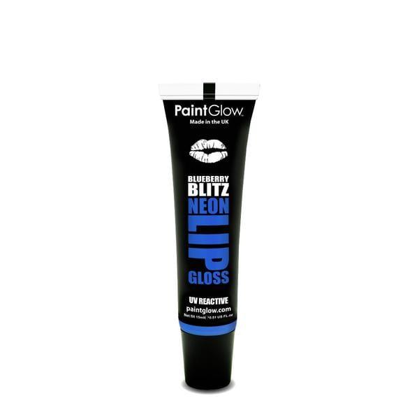 PaintGlow UV Reactive Neon Lip Gloss 15ml Blueberry Blitz